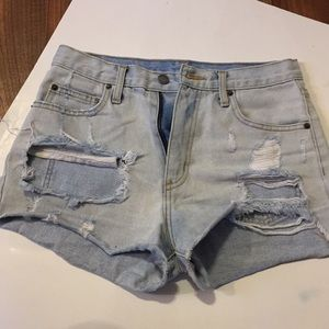 CarMar blowed out shorts size 25